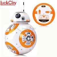 Быстрая доставка BB-8 мяч 20,5 см Star Wars RC BB 8 Droid робот дистанционное управление 2.4g BB8 Интеллектуальный робот фигурку модель игрушки