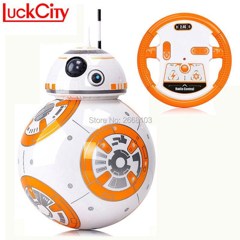 Livraison rapide BB-8 Balle 20.5 cm Star Wars RC BB 8 Droid Robot 2.4G Télécommande BB8 Intelligent Robot Action Figure Modèle jouets