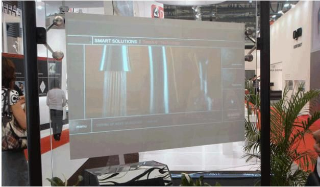 Free Shipping! 1.524 X 5 meter Dark Gray Rear projection screen film for window shopping