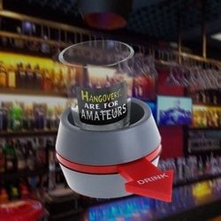 2018 Spin the Shot Drinking Game Turntable Roulette Glass Spinning Fun Party Home Gams Use Drop Shipping Support