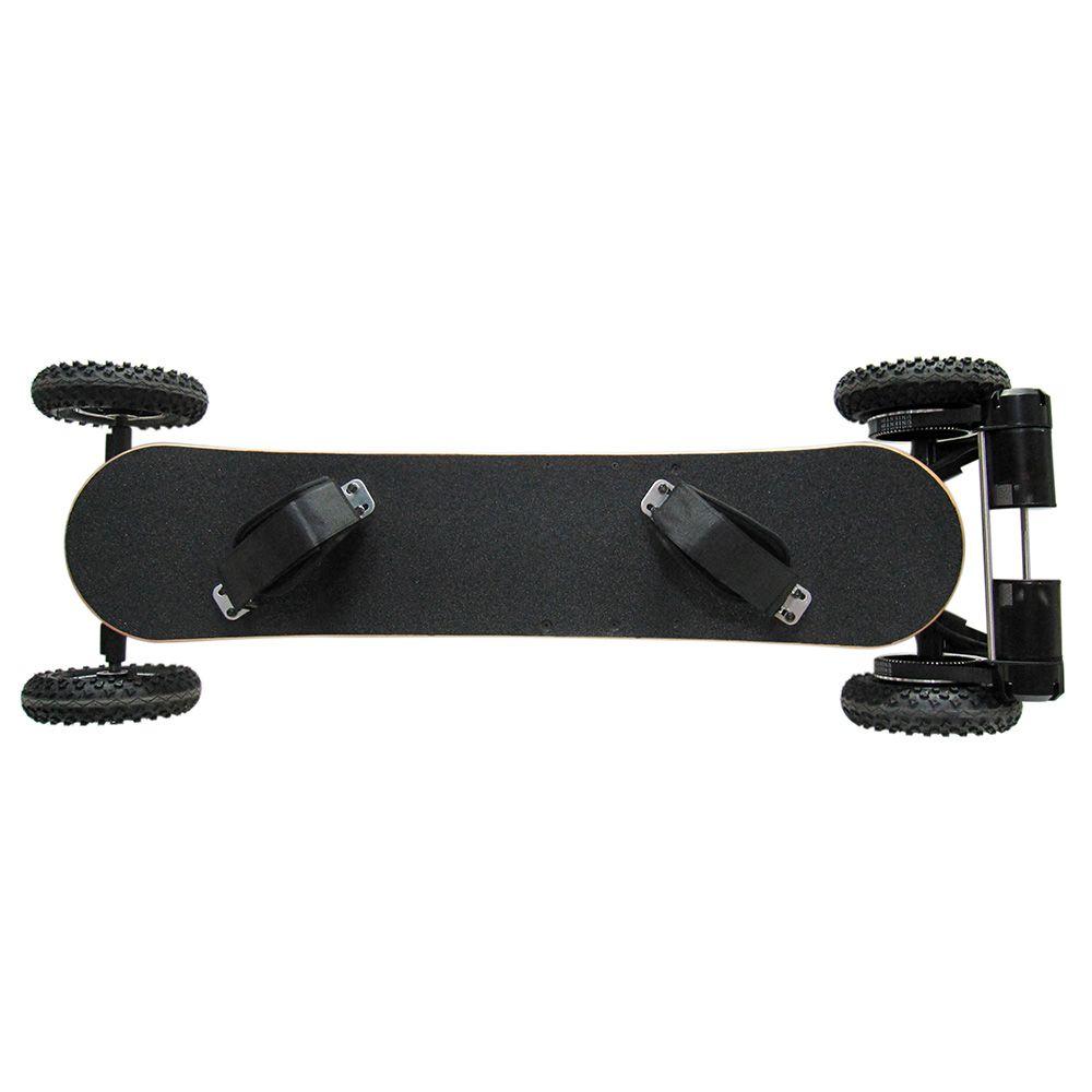 H2C 2 X 800W Brushless Motors 4-Wheel Electric Skateboard Slide Board With Remote Control E-Wheel Skateboard BLACK EU
