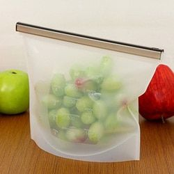 Home Food Grade Silicone Fresh Bags Kitchen Food Sealing Storage Bag Kitchen Organizer Gadget Cooking Tools Supplies