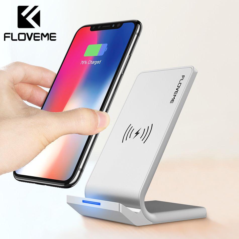 FLOVEME Universel Qi Chargeur Sans Fil Pour iPhone X XS Max XR Rapide Chargeur USB 10 w Puissance De Charge Pour Samsung galaxy S8 S9 Note 8