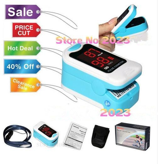 CONTEC CMS50M LED Fingertip Pulse Oximeter,Blood Oxygen Monitor, <font><b>Care</b></font> Health, Pouch