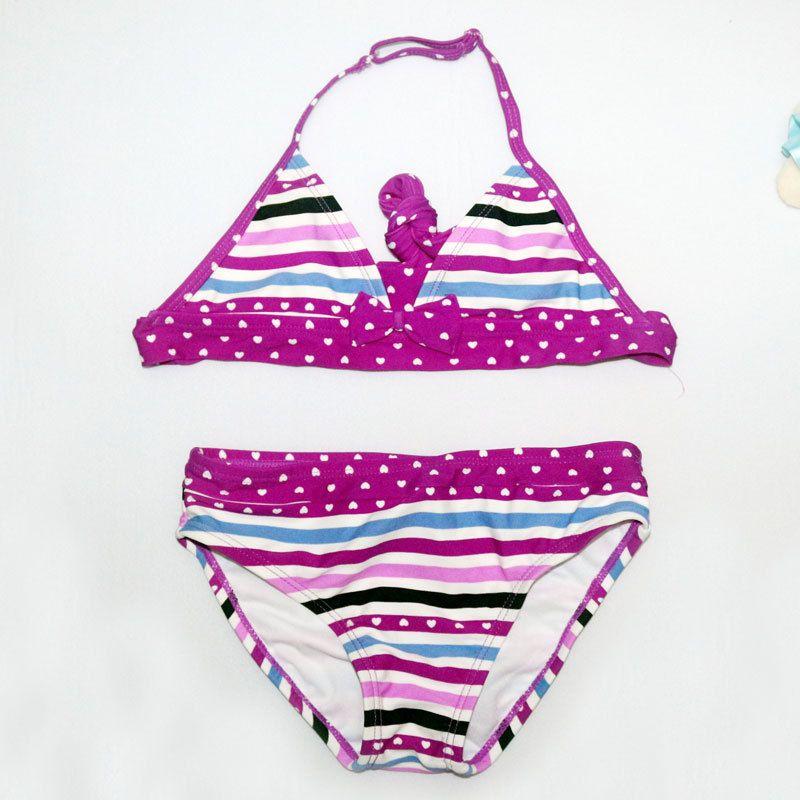 2017 New Summer Children Split Cute Dot Swimwear Girl Bathing Suit Girl Beach Swimsuits Bikini Beach Wear Kid Girl Bikini