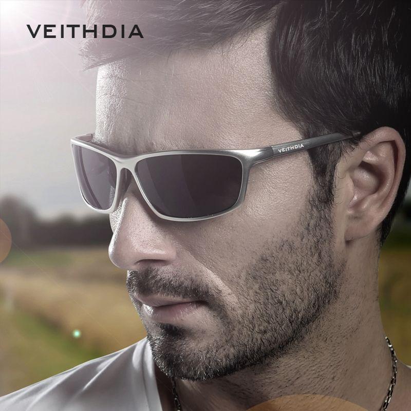 VEITHDIA Brand Designer <font><b>Aluminum</b></font> Men's Polarized Sunglasses Sunglass Eyewear Accessories Men Blue Mirror Sun Glasses Goggle 6520