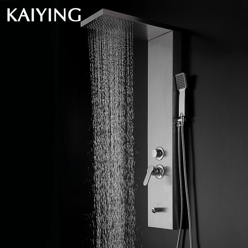 KAIYING Modern Stainless Steel Rain Waterfall Shower Panel,841