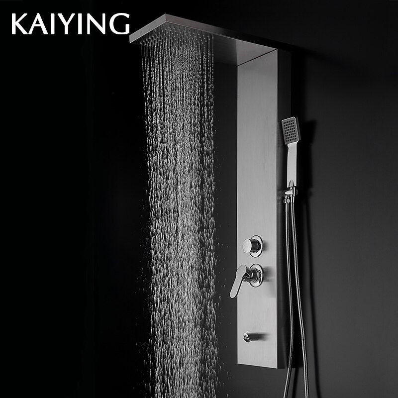 KAIYING Modern Stainless Steel Rain Waterfall Shower Panel,841
