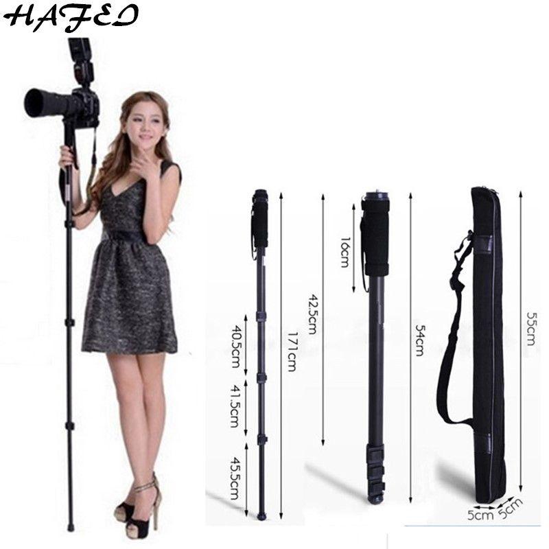 HAFEI trépieds professionnels appareil photo Portable monopode WT 1003 pour Nikon D3200 D3100 D5000 D7000 DSLR reflex léger Max: 67 (171 cm)