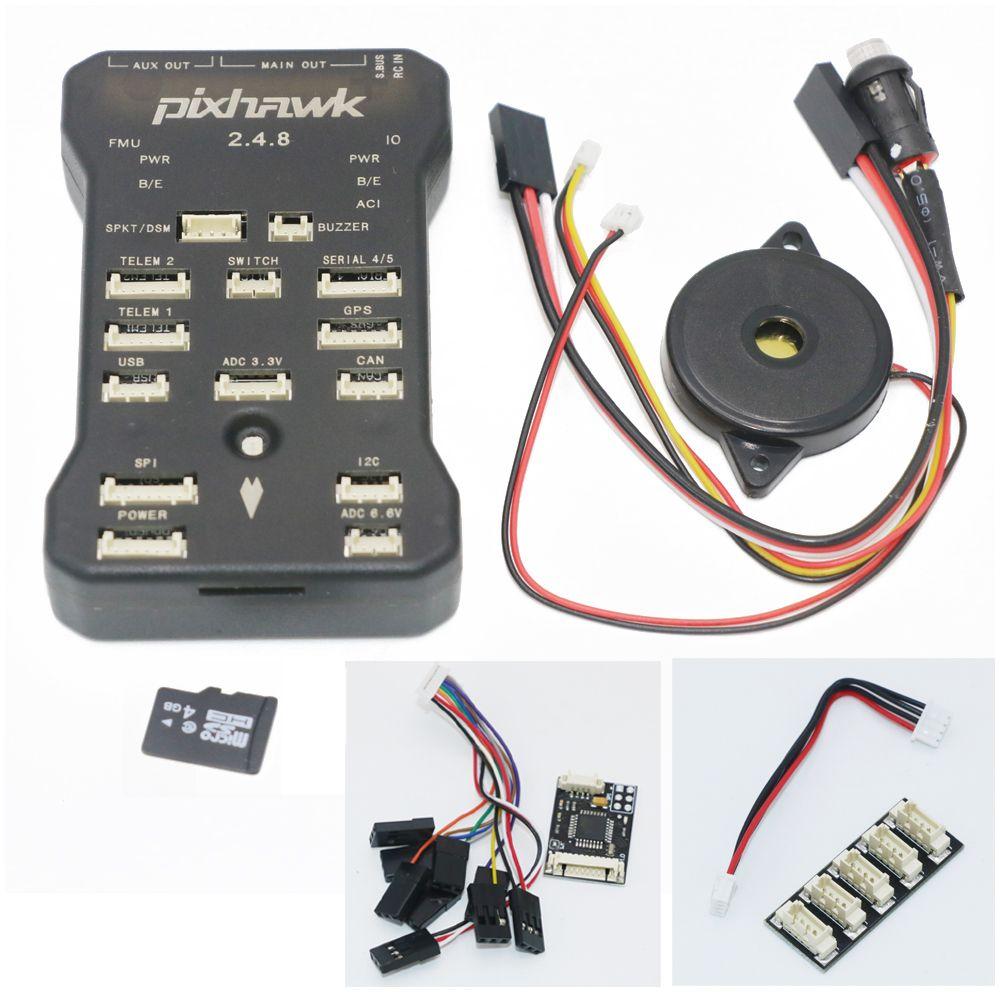 Pixhawk PX4 Pilote Automatique PIX 2.4.8 32 Peu Contrôleur de Vol avec Interrupteur de sécurité et Buzzer 4G SD et I2C Splitter Élargir Module