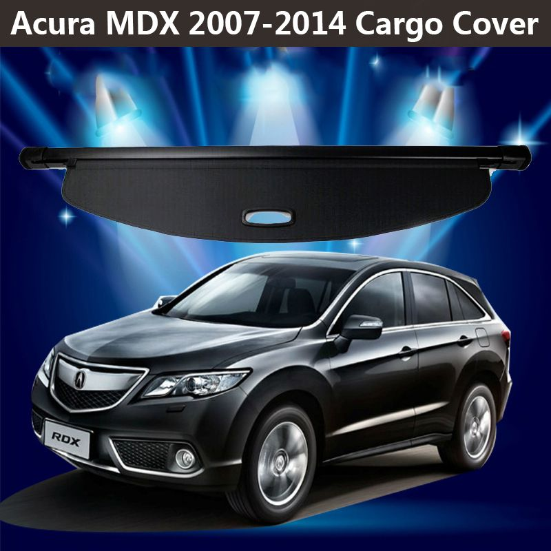 For Acura MDX 2007-2014 Rear Cargo privacy Cover Trunk Screen Security Shield shade (Black, beige)