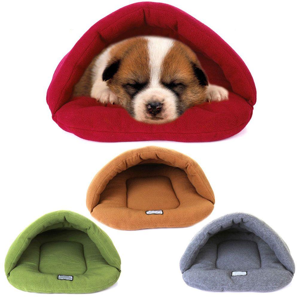Мягкий теплый Собака Кошка Кровать Дом Плюшевые уютное гнездышко Коврики Pad Подушки ПЭТ пещере