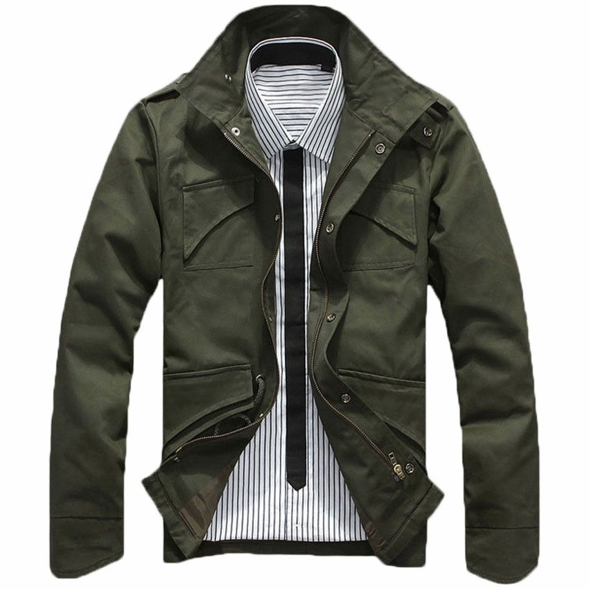free shipping plus size M-2XL men Jacket fashion slim fit Mens jackets and coats thick 3 color men's jackets 75