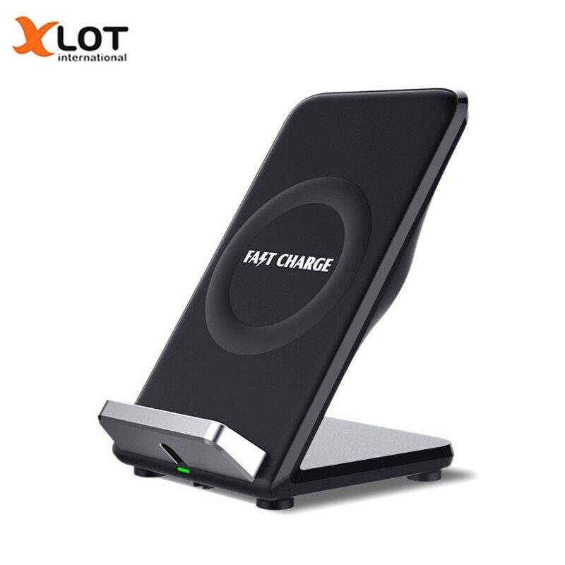 10.8W QI Fast wireless charger with Fan for Galaxy S8 S8+ S7 S7edge S6edge+ Note 5 Double coil QI Wireless Charging Stand Pad