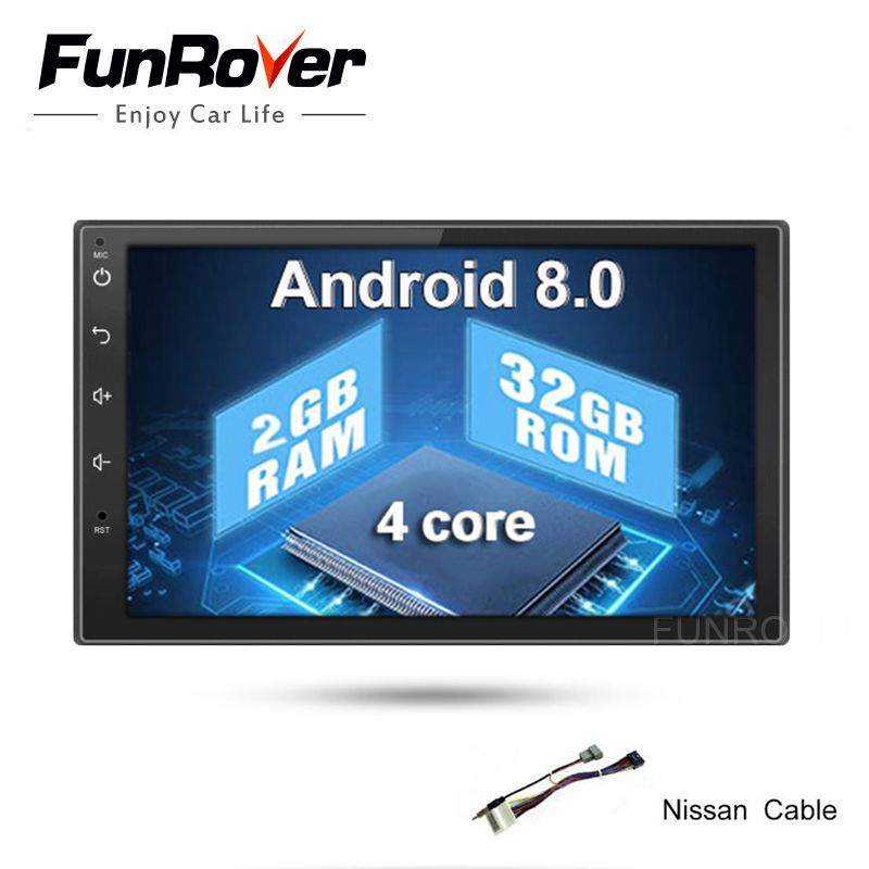 Funrover 2g + 32g 2Din Android8.0 Auto Dvd Für Nissan Qashqai X-trail Almera Pathfinder Teana Hinweis juke Multimedia Gps Player Echt
