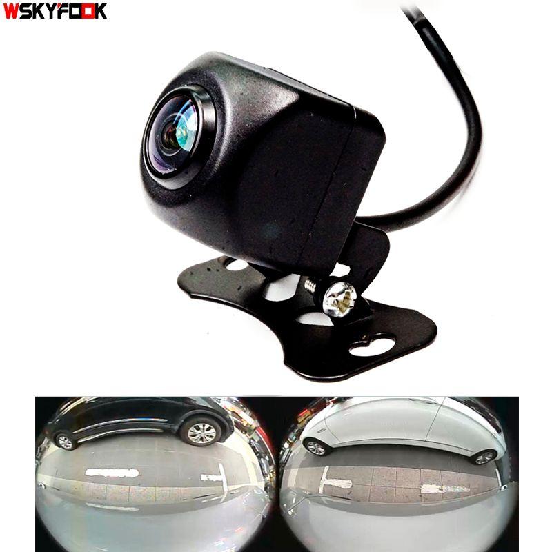 600L CCD HD 180 degrés Fisheye lentille voiture caméra arrière/avant grand angle inversion caméra de recul vision nocturne aide au stationnement