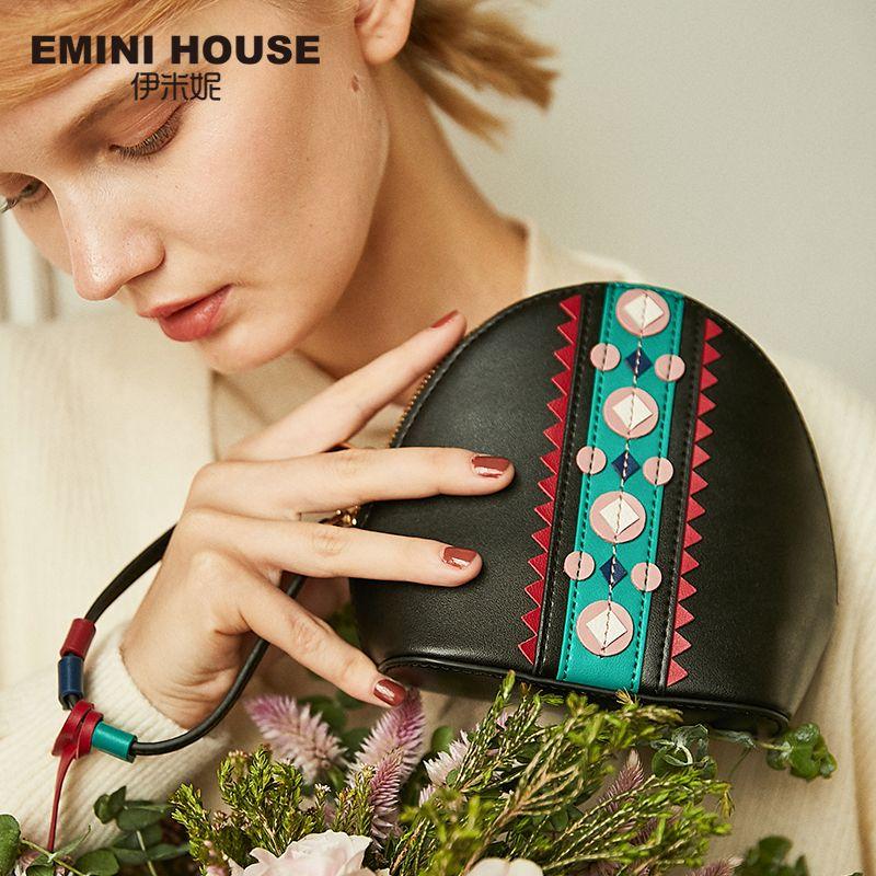 EMINI HAUS Indischen Stil Schulter Umhängetaschen Für Frauen Leder Handtaschen Taschen Frauen Berühmte Marke Quaste Shell Damen Hand Tasche