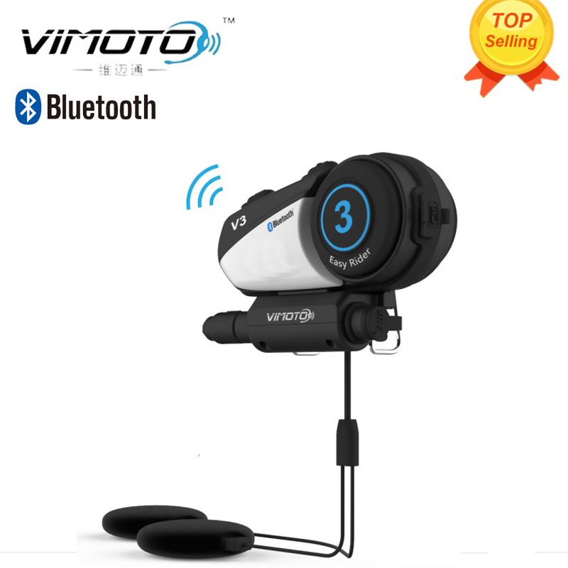 Helmet Bluetooth Headset Motorcycle Vimoto V3 600mAh Multi-functional Stereo Headphones For Two Way Raido Easy Rider Series
