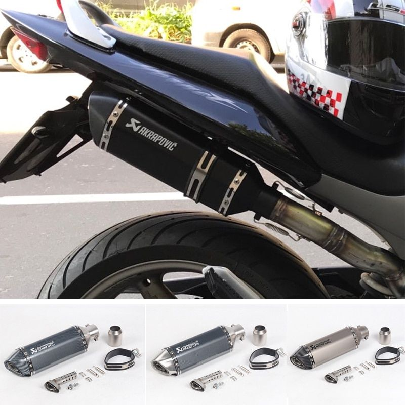 Livraison gratuite akrapovic échappement moto rcycle silencieux évasion moto avec db tueur systèmes d'échappement pour honda benelli msx125 nmax EP01