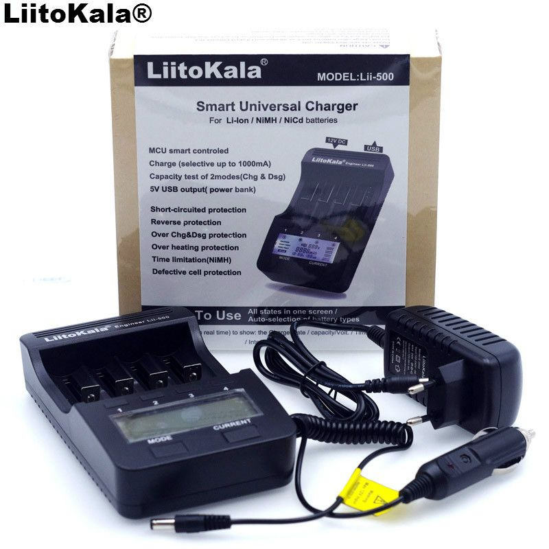 New Liitokala lii500 Smart Universal LCD LI-ion NiMh AA AAA 10440 <font><b>14500</b></font> 16340 17335 17500 18490 17670 18650 Battery Charger