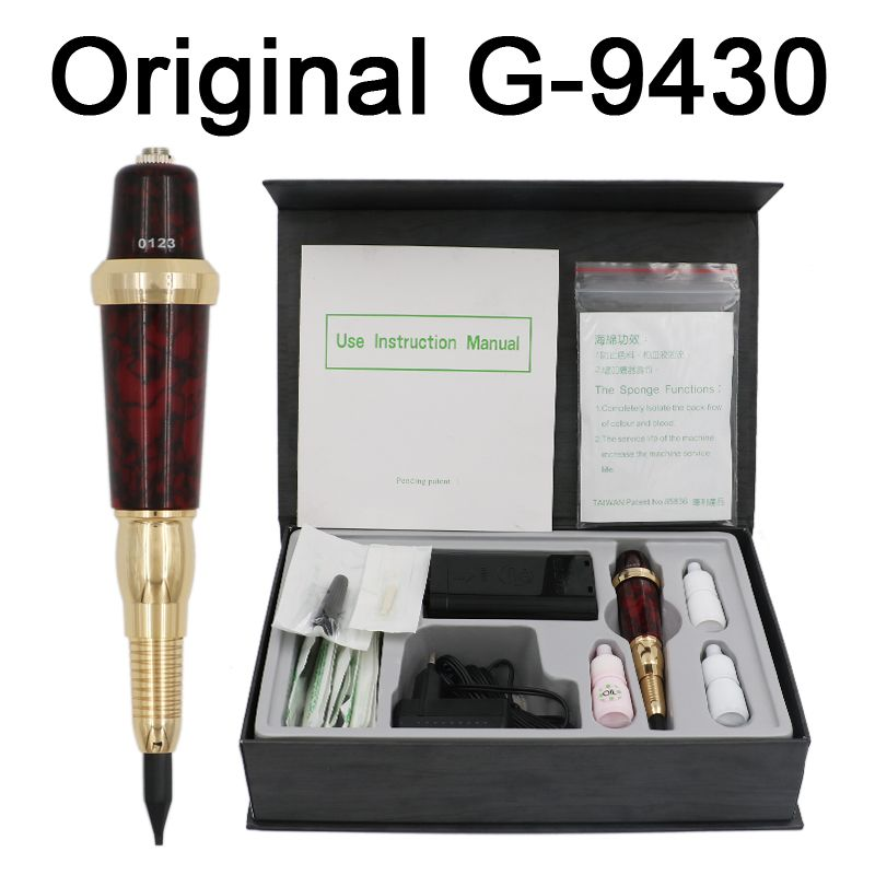 Professional Taiwan Giant Sun G-9430 Eyebrow Tattoo Machine Pen For Permanent Makeup Eyebrow Forever MAKE UP kit With Tattoo ink