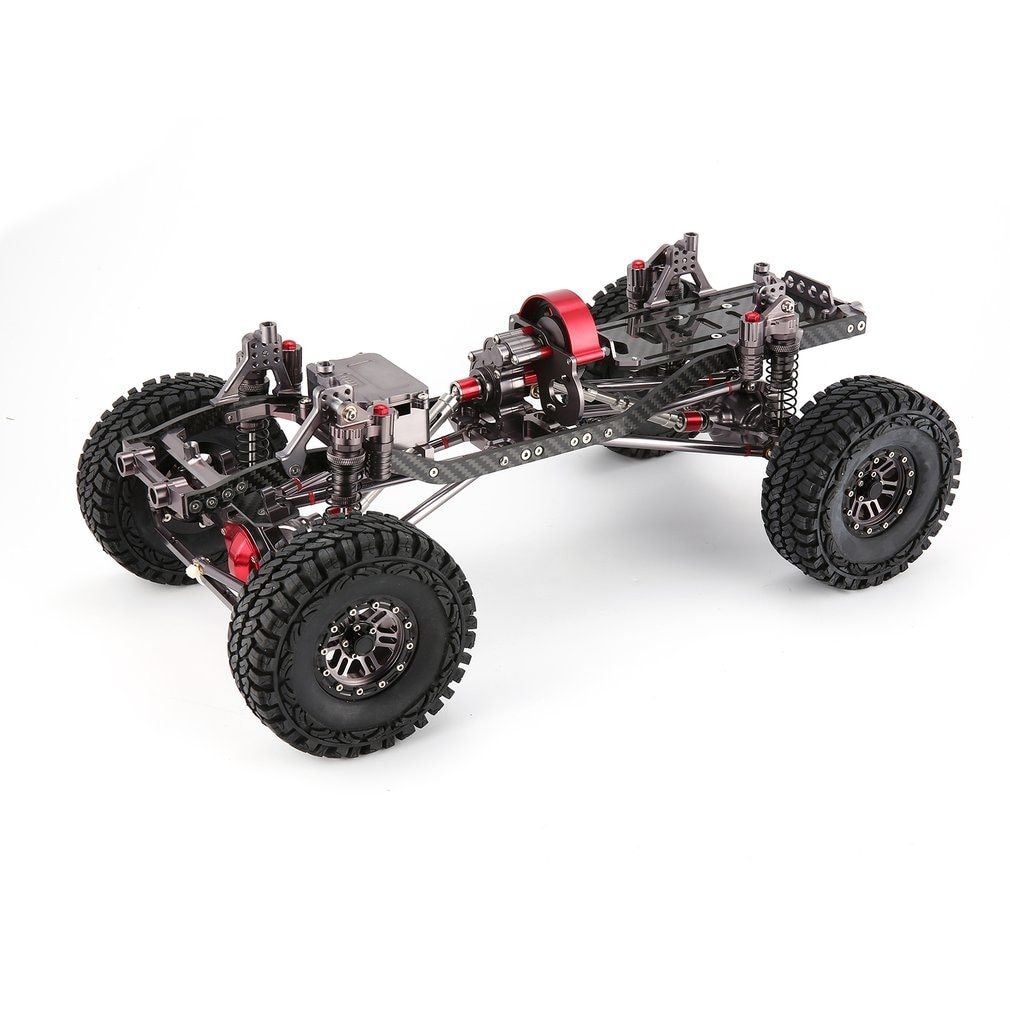 CNC Aluminum Metal and Carbon Frame Body for RC Car 1/10 AXIAL SCX10 Chassis 313mm Wheelbase Vehicle Crawler Cars Parts
