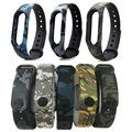 Camouflage Xiomi Mi Band2 Silicone Wrist Strap Replacement watchband Bracelet Wrist band Colourful for Xiaomi band 2 Wristbands