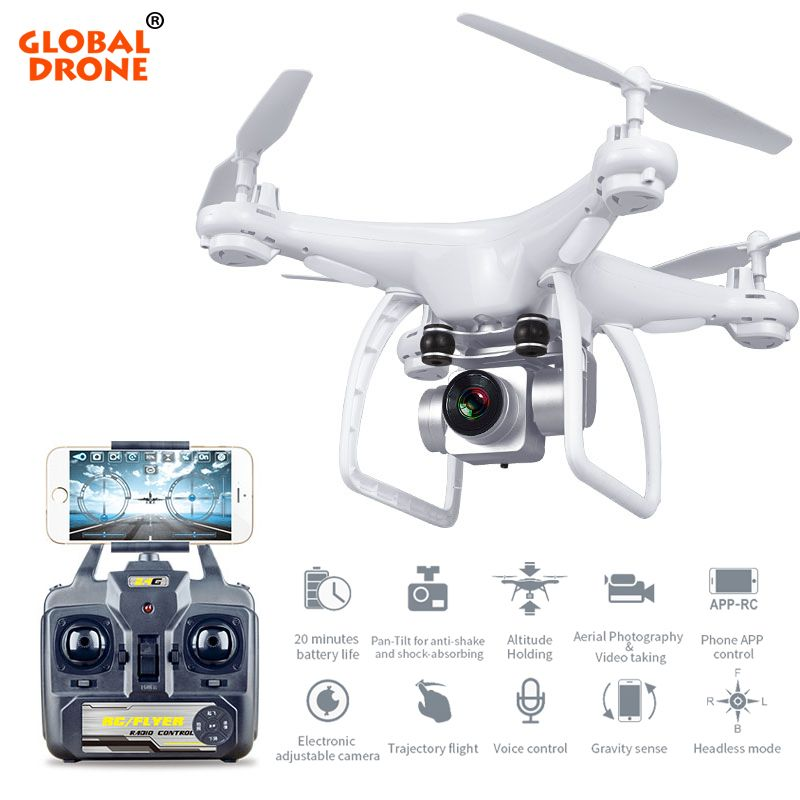 Global Drone Profissional Long Flying Time Altitude Hold RC Drones With Camera HD Quadcopter FPV VS SYMA X5SW H31