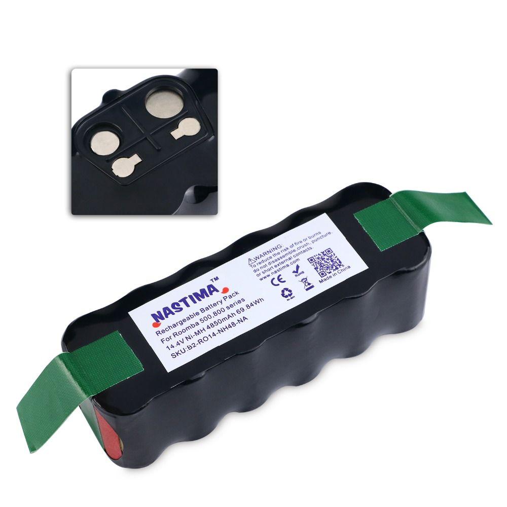 NASTIMA 14.4v 4850mAh Battery For Roomba 500 600 700 800 Series Vacuum Cleaner <font><b>Robots</b></font> 600 620 650 700 770 780 800 [UL&CE listed]