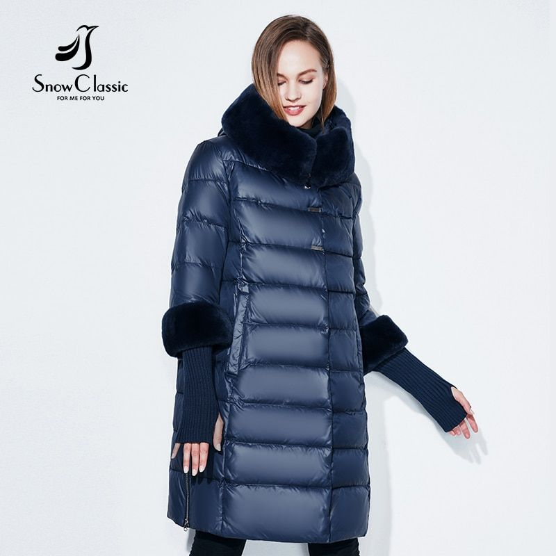 Snowclassic 2018 jacket women camperas mujer abrigo invierno coat women park plus size 5XL Fur collar hat cuffs thick Europe