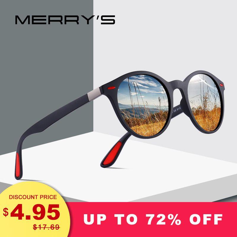MERRYS CONCEPTION homme femme Classique Rétro Rivet lunettes de Soleil Polarisées TR90 Jambes DESIGN Plus Léger Ovale Cadre UV400 Protection S8126