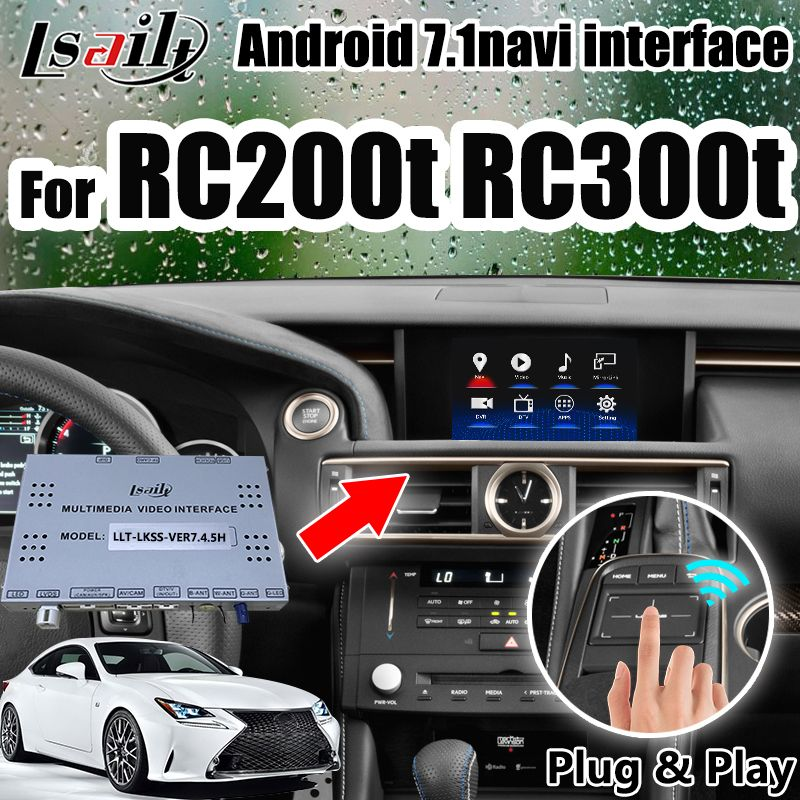 Android GPS Navigation Box für Lexus RC200t RC300h Interface mit carplay, OEM Knopf, touch-Pad Control durch Lsailt.