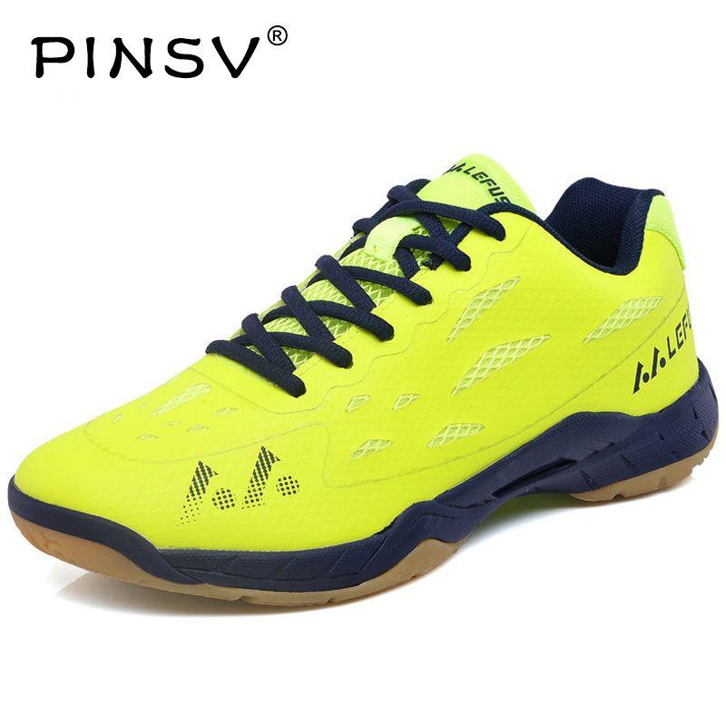 PINSV Badminton Shoes Women Men Sneakers Women'S Sneakers Training Breathable Anti-Slippery Light Sneakers Krasovki Men 2017