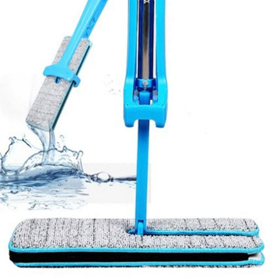 Self-Wringing Double Sided Flat Mop Telescopic Comfortable Handle Mop Floor Cleaning Tool For Living Room Kitchen