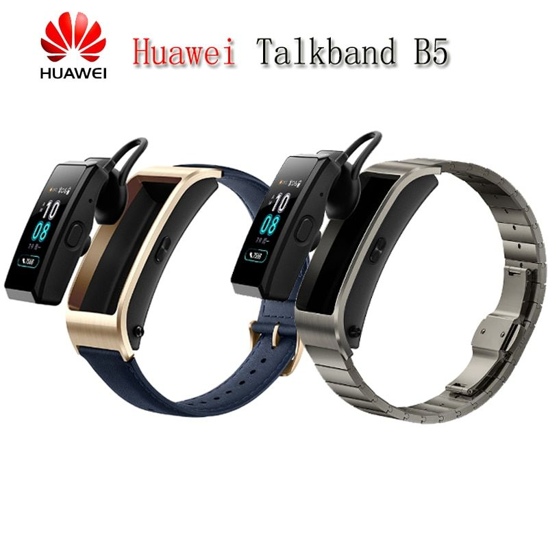 Original Huawei TalkBand B5 Talk Band Bluetooth Smart Bracelet Wearable Sports Wristbands Touch AMOLED Screen Call Earphone Band