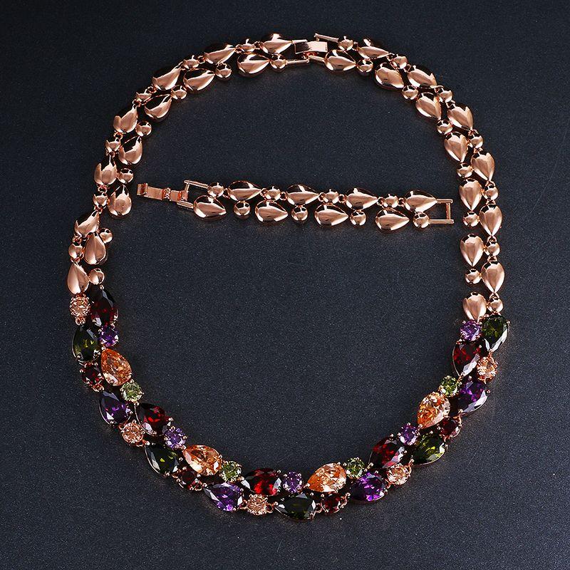 Emmaya Mona Lisa collier pendentif de mariage longue chaîne avec AAA cubique zircone mode collier déclaration femmes collier