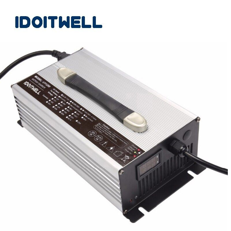 Customized 1200W series 12V 50A 24V 30A 36V 20A 48V 20A 60V 15A 72V 12A battery charger for Lead acid Lithium or LifePO4 battery