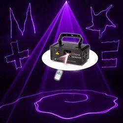 Chims DMX التحكم الليزر المرحلة الإضاءة البنفسج الأرجواني ماسحة العارض الملونة قوية ضوء شعاع 150 ميجا واط قناة حزب عطلة