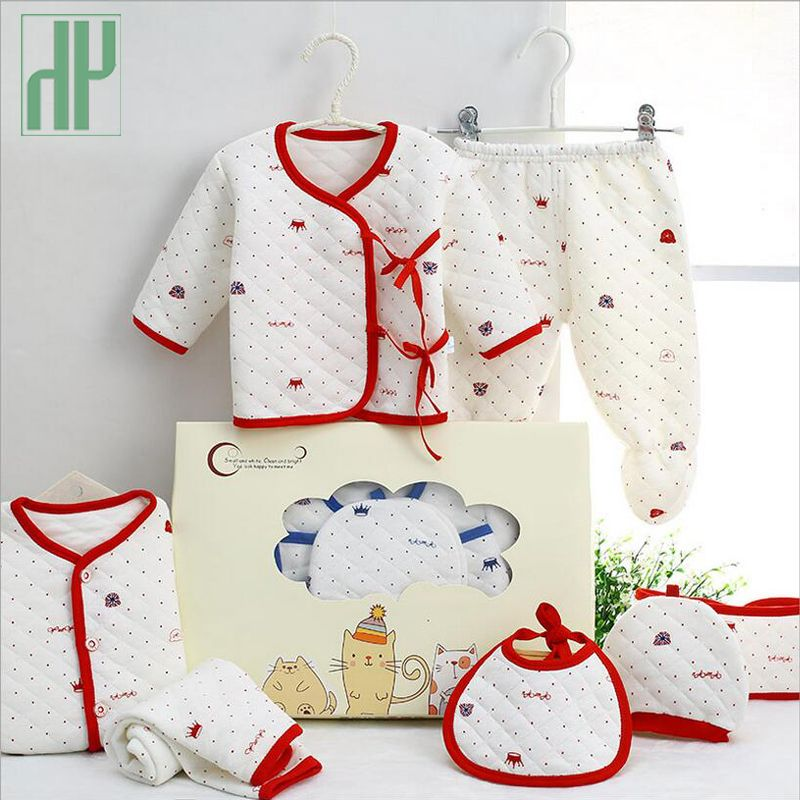 7 pièces/nouveau-né bébé ensemble 0-3 M nouveau bébé vêtements costume nouveau-né coton nouveau-né bébé garçon fille vêtements hiver automne unisexe tenue