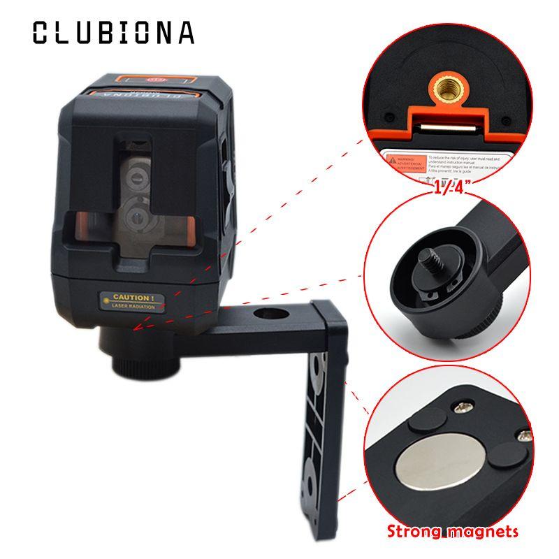 Certifié CE protection antichute paume croix laser lignes auto-nivelant récepteur niveau OK laser 360 rotatif avec support magnétique