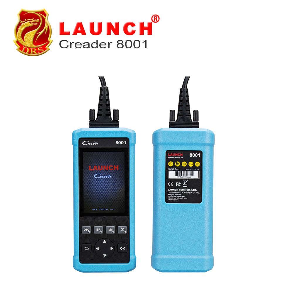 100% Original Launch DIY Code Reader CReader 8001 Full OBD2 Scanner/Scan Tool with Oil/EPB Reset Service ENG/AT/ABS/SRS CR8001