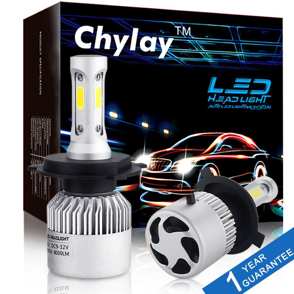 2 stücke H4 LED H7 H11 H1 H3 9005 9006 Auto Auto Scheinwerfer 72 watt 8000LM Hohe Abblendlicht Licht autos Lampe weiß 6500 karat Birne