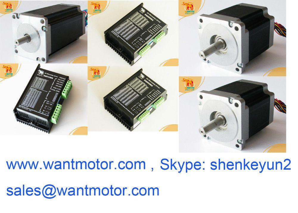 2 pcs Nema 34 Motor, 5.6A, 85BYGH450D-008 & 2 pcs DQ860MA drives+ 1 pc Nema 23 with 57BYGH115-003 motor& 1 pc DQ542MA driver