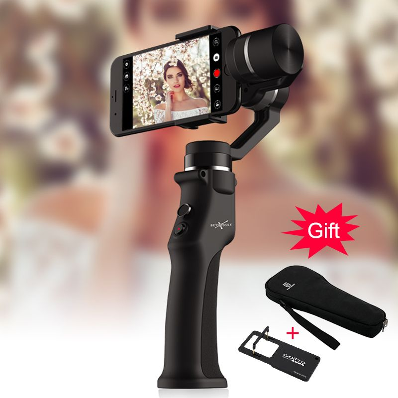 EYEMIND Top QualitySmartphone Handheld Gimbal 3-Axis Stabilizer for Phone Action Camera Bluetooth APP Selfie Stick estabilizador