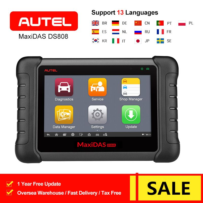 Autel MaxiDAS DS808 Alle System Auto Diagnose Werkzeug Auto OBD OBD2 Code Reader Scanner Öl Reset TPMS SAS EPB DPF update von DS708