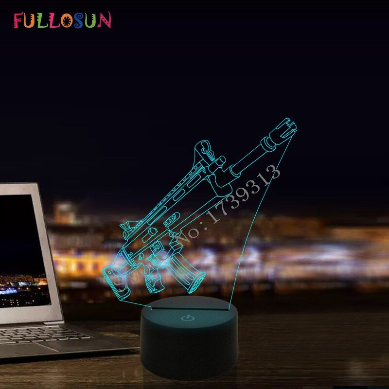 3D Illusion Desk Lamp 7 Color 3D Lamp Kids Gift <font><b>Touch</b></font> Night Light for Children Holiday Present