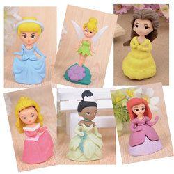 1 unids jwhcj creativo lindo princesa chica Borrador de goma creativa de los efectos de escritorio del kawaii suministra los regalos del papelaria para los cabritos