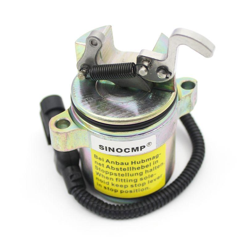 12V fuel stop solenoid 0428-7583  0428-7116  0410-2390 for Deutz 1011 2011 Engine Parts, 3 Month Warranty