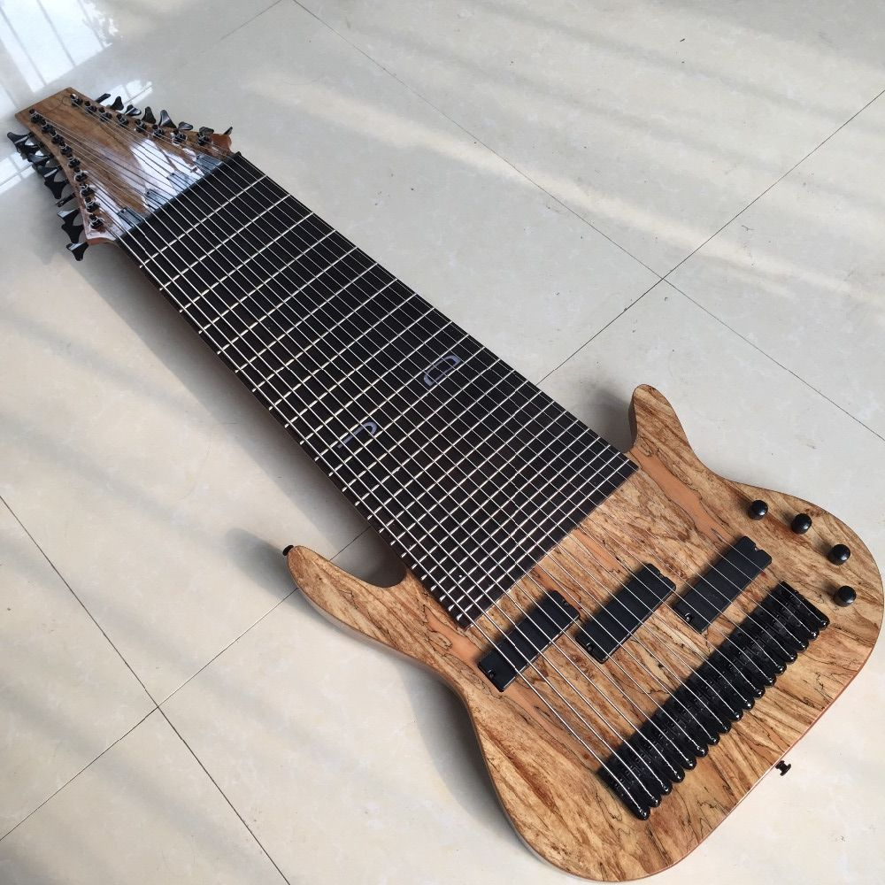 Factory Custom 17 Saiten Elektrische Bass Gitarre, Palisander Griffbrett, keine Bünde Inlay, Bieten Angepasst