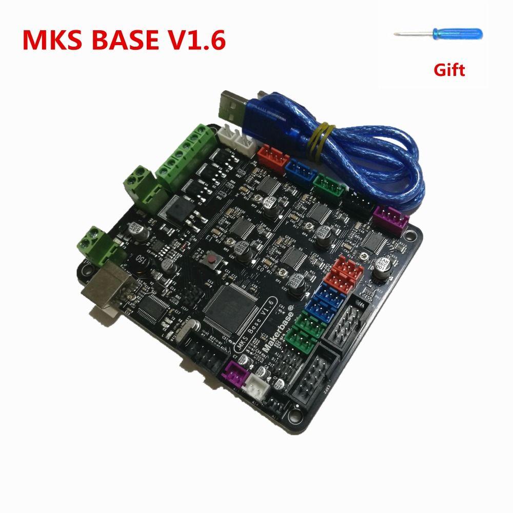 МКС базы V1.6 схема integrated Материнская плата Совместимость Mega 2560 R3 и RAMPS1.4 Marlin плата управления RepRap Мендель i3